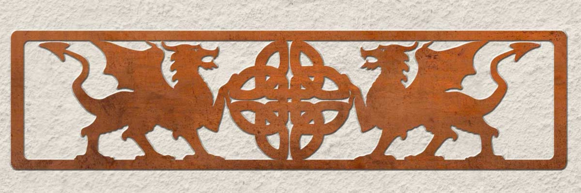 Metal Wall Art Celtic Dragons For Home Or Garden