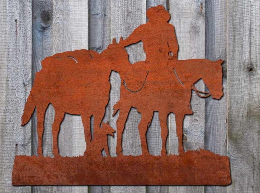 Etal Wall Art Australian Stockman And Horses