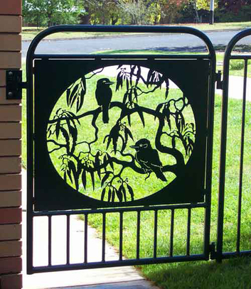 metal art wrought iron gate